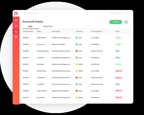 Overzicht servicedesk -tickets